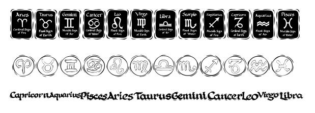 free astrology fonts image
