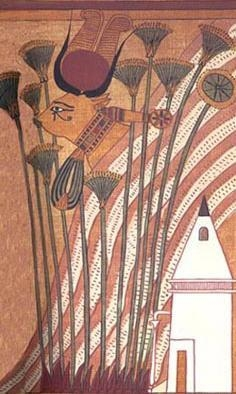 Image of Hathor in her form as a sacred cow